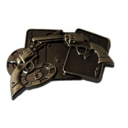concho - crossed colt revolver, gold XXL