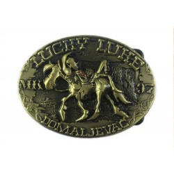 belt buckle antique brass Lucky Luke