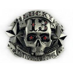 belt buckle lucky skull