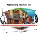 reusable mask with replaceable filters Lucky Luke