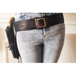 Handmade holster belt black
