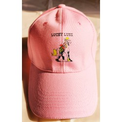 cap with a visor pink