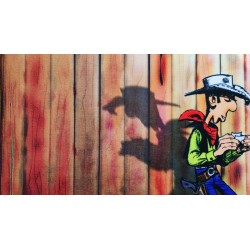 Lucky Luke chess mouse pad