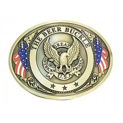 metal belt buckle Lucky Luke